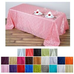 90x132 Pintuck Rectangle Tablecloths For Wedding Party Banquet Event Decoration