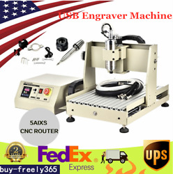 Usb 5axis 3040 Cnc Router Engraver Engraving Milling Machine 800w Vfd Andhandwheel