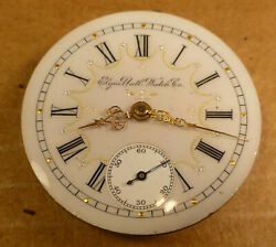 Vintage Elgin Pocket Watch Movement With Outstanding Dial - Best Offer -