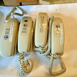Vintage Telephones Lot Of 4 Wall Desk Telephone Phones For Parts Not Working
