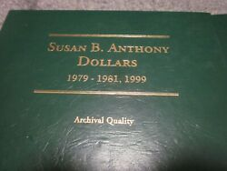 Susan B Anthony Dollar Complete 18 Coin Set With Proofs In Lac12 Album
