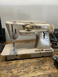 Singer 500a The Rocketeer Sewing Machine Slant-o-matic W/pedal And Case
