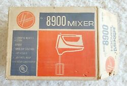 Nos Vintage Hoover 8900 3 Speed Electric Mixer In Box