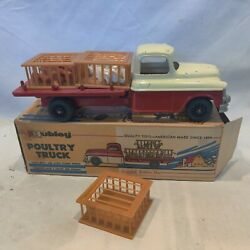 Vintage Hubley Poultry W Chickens Truck W/ Box 497 Great Condition. Very Cool.