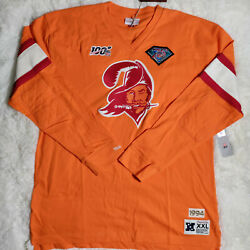 Mitchell And Ness 75 Nfl Vintage Tampa Bay Buccaneers Long Sleeve Sz 2xl Men's Nwt
