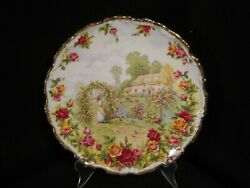 Royal Albert Celebration Of The Old Country Roses Garden 8 Salad/luncheon Plate