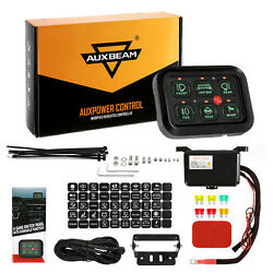 Auxbeam 6 Gang Car On-off Control Switch Panel Green Led For Jeep Toyota Dodge