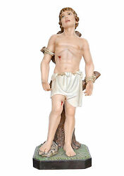 Statue Saint Sebastiano Cm 125 In Fibreglass With Eyes Of Glass Made In Italy