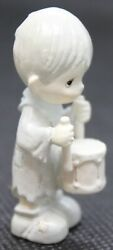 91 Precious Moments I'll Play My Drum For Him Little Drummer Boy Pewter Figurine