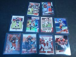 Nick Chubb Browns Lot 10 Nfl Panini Football Cards W/ Rookie And On Card Auto