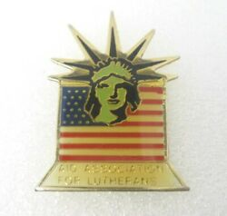 Aid Association For Lutherans Liberty American Flag Lapel Pin A744