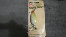 Heddon Weedless 3/8oz Moss Boss Lure X0515whs In White Scaled Bass/pike/pickerel