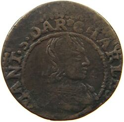 France Double Tournois Charles Ii Off-center A15 567