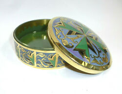 Art Deco Covered Dish With Glass Insert Erhard And Sohne Enamel