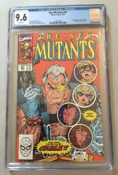 New Mutants, Vol 1, 87, 3/1990 Cgc 9.6, White Pages, 1st First Appearance Cable