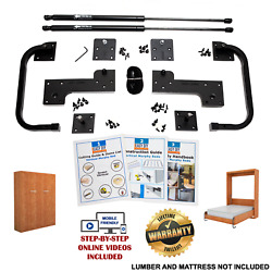 Queen-size Diy Murphy Bed Hardware Kit - Vertical Wall Mount Free 5 Day Shipping