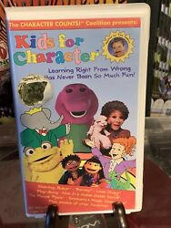 Kids for Character VHS 1990s Barney Clamshell Editions $15.90