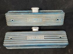 Rare - Early Weiand Y Block Ford Valve Covers - Gasser Dragster