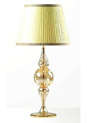 Table Lamp Glass Of Murano Fused With Gold Handmade In Italy 1 Lamp Light