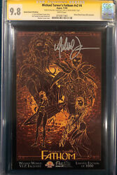 Michael Turner Signed Cgc Ss 9.8 Fathom V2 4 Comic Limited Edition Of 1000