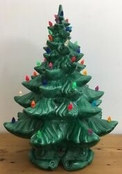 Vintage Large Collectible 1970s Atlantic Mold Ceramic Christmas Tree