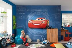 Disney Wallpaper For Children's Bedroom Cars 3 Red And Blue Wall Mural No Adhesive