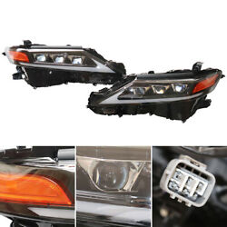 1 Pair Led Drl Headlights Clear Lens Left And Right Lamp For Toyota Camry 2018-21