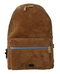 Dolce And Gabbana Bag Leather Brown Suede School Travel Backpack Borse Rrp 1900