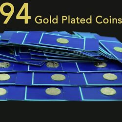 1977 Franklin Mint Medallic History Of American Presidency 94 Gold Plated Medals