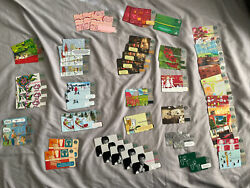 Lot Of 55 Starbucks Gift Cards Great For Collectors-great Deal +bonus