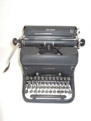 Antique L C Smith And Corona Super Speed Typewriter Vintage Works Needs New Ribbon