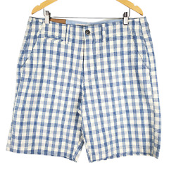 American Eagle Classic Length Plaid Shorts Mens 36 Just Below The Knee Blue Nwt