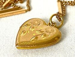 Vintage Mixed Lot 14k And 10k Gold Necklace - Locket - Earring Jewelry