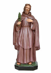 Statue Saint Ciro Cm 110 - In Fibreglass With Eyes Of Glass For External