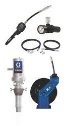 Graco 24k832 31 Oil Pump W/flex Meter 6ft Air And Fluid Hoses Sd 1/2 X 35and039 Reel