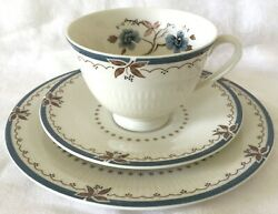 Royal Doulton Old Colony Trio Cup, Saucer, 8in Plate, Excellent Condition