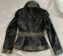 Giorgio Armani Nwt Leather And Suede Jacket Made In Italy Size 6us 6325.00