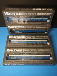 Ho Walthers Great Northern 6-4-1 Obs Lounge Big Sky Lighted Set Of 4 Nip