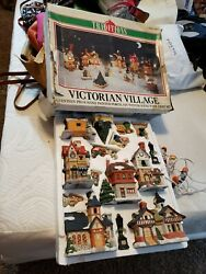 Christmas Traditions Lighted 17 Piece Victorian Village Set Buildings People
