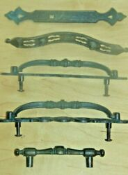 Vtg 5 Handles For Chest Or Cabinets Pulls Kitchen Bedroom Chest Of Drawers