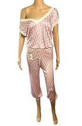 Christian Dior By John Galliano S/s 2004 Monogram Logo Pants And Top 2 Piece Set