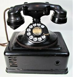 1930s Telephone Bell System Western Electric Rotary Desk Phone With Ringer
