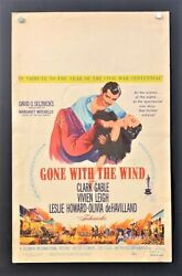 Gone With The Wind Window Card Vivien Leigh Clark Gable Hollywood Posters
