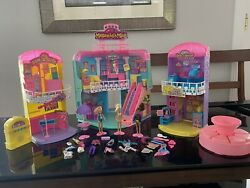 1996 Cap Toys Melanies Mall Huge Lot Stores 3 Figures Clothing More