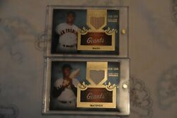 2011 Topps Tier One Top Shelf Relics Tsr48 Willie Mays And Willie Mccovey
