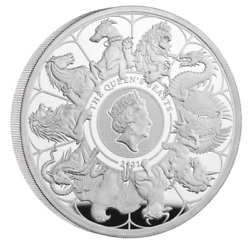 Uk Royal Mint 2021 Queenand039s Beasts Completer 2 Oz Two Ounce Silver Proof Coin