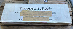 Create-a-bed Murphy Bed Hardware Deluxe Adjustable Kitub Full New In Opened Box