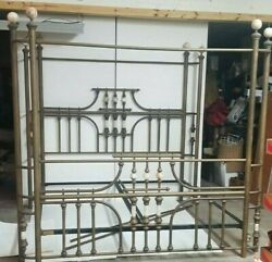 Canopy Antique King Brass And Alabaster Bed