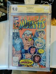 New Mutants 87 Cgc 9.0 Signed By Rob Liefeld