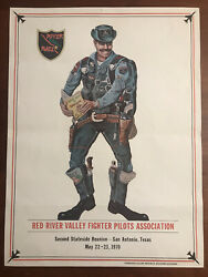1970 Red River Valley Fighter Pilots Association River Rats 2nd Reunion Poster